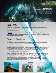 Sea Frogs - Underwater camera housings for most models of cameras