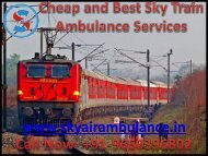 Get Sky Train Ambulance Services in Chennai at the Lowest Price