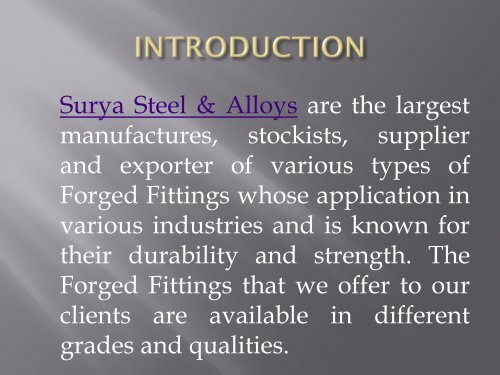 Manufacturer, supplier and exporter of SS 304/304L Forged Threaded & Socket weld Fittings