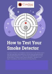 Cowling - How to Test Your Smoke Detector