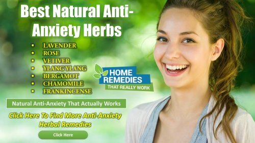 Anti-Anxiety Home Remedy