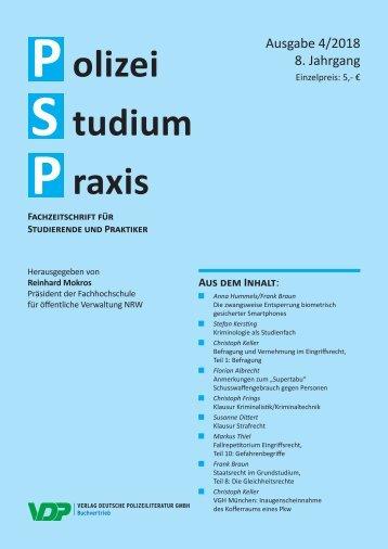 Polizei Studium Praxis 4/2018
