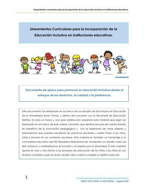 Libro Azul Para La Inclusion Agosto 28