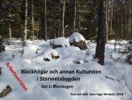 Blockhögar och annan Kultursten i Storvretabygden, Del 1. Storskogen, Sven-Inge Windahl, 2018