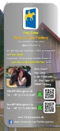 Flyer - Feldbergponys - 2019 I