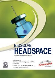 Biosolve Headspace Catalogue