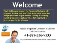 Yahoo Technical Help Phone Number 1877-503-0107 USA & Canada