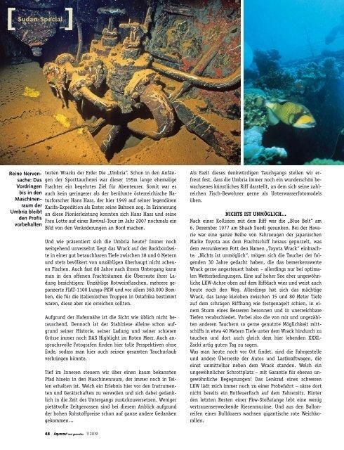 AQUANAUT next generation - SUDAN, Best of RED SEA