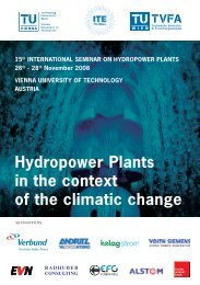 Hydropower plants in the context of the climatic change - TU Wien
