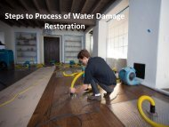 Steps to Process of Water Damage Restoration Raleigh NC