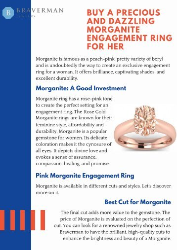 Buy a Precious and Dazzling Morganite Engagement Ring for Her