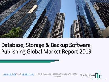 Database, Storage & Backup Software Publishing Global Market Report 2019
