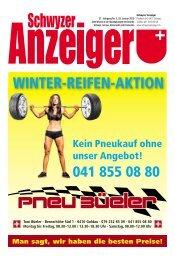 Schwyzer Anzeiger – Woche 4 – 25. Januar 2019