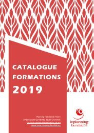 Catalogue formation 2019 - Planning Familial Isère