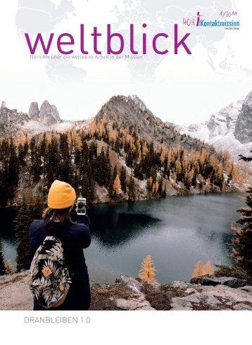 Weltblick 2019, 1. Ausgabe