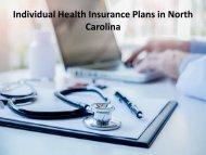 Individual Health Insurance Plans in North Carolina