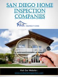 San Diego Home Inspection Companies