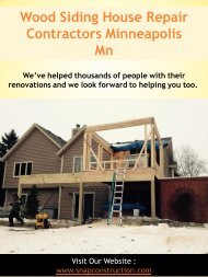 Wood Siding House Repair Contractors Minneapolis
