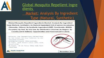 Global Mosquito Repellent Ingredients Market