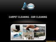 Carpet Cleaning - GSR Cleaning