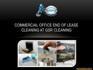 Commercial Office End Of Lease Cleaning At GSR Cleaning
