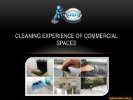 Cleaning Experience Of Commercial Spaces