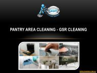 Pantry Area Cleaning - GSR Cleaning