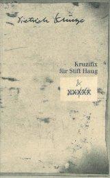 Dietrich Klinge - Kruzifix für Stift Haug
