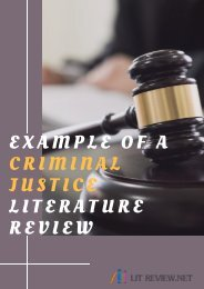 Example of a Criminal Justice Literature Review