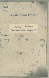 Friedemann Pfäfflin - Sebastiankapelle