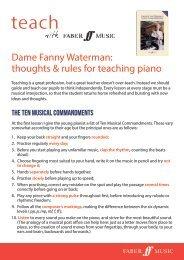 Dame Fanny Waterman on teaching piano