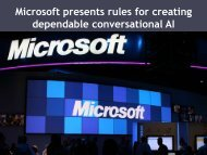 Microsoft presents rules for creating dependable conversational AI