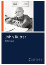 John Rutter Catalogue