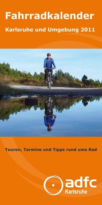 Fahrradkalender Karlsruhe und Umgebung 2011 - ADFC