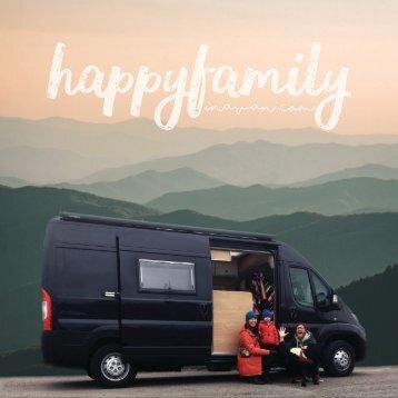 Happy Family in a Van