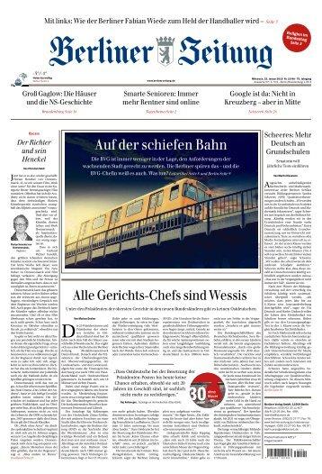 Berliner Zeitung 23.01.2019