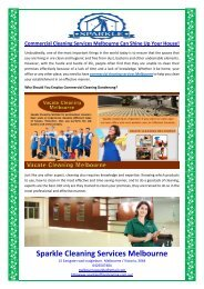 Commercial Cleaning Services Melbourne Can Shine Up Your House!