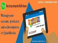 Handle your account, Products & Subscriptions in QuickBooks