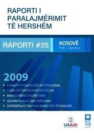 RAPORTI #25 - UNDP Kosovo