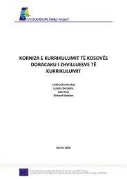 korniza e kurrikulumit të kosovës doracaku i zhvilluesve të kurrikulumit