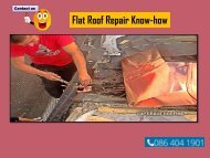 Flat Roof Repair Know-how