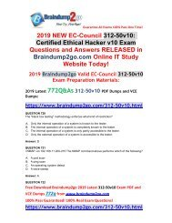 2019 New Braindump2go 312-50v10 Dumps with VCE and PDF 772Q Share(Q720-Q738)