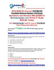 2019 New Braindump2go 312-50v10 PDF and VCE Dumps 772Q Share(Q698-Q708)