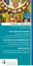 Veranstaltungsprogramm des Evangelischen Kirchenkreises Halle-Saalkreis für Februar und März 2019