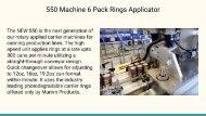 550 Machine 6 Pack Rings Applicator