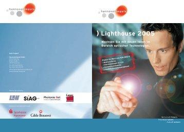 Broschüre Lighthouse 2005 - Wettbewerb für  ... - hannoverimpuls