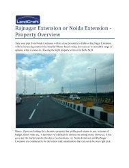 Rajnagar Extension Or Noida Extension Property Overview (1)