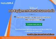 Electrical Engineering Laboratory Equipments Manufacturers
