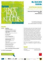Dortmund bauen - Forum Stadtbaukultur - Einladungsflyer