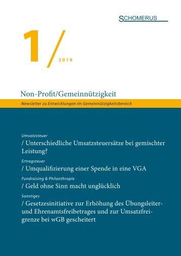 Non-Profit/Gemeinnützigkeit 1/19
